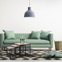 Lot de 3 tables gigognes carrées en bois et métal noir