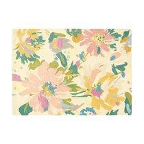 Tapis 120x170 cm en laine à motif floral - NEDLE