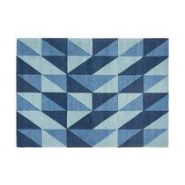 Tapis 120x170 cm de style scandinave en laine bleue - NEDLE