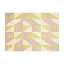 Tapis 120x170 cm de style scandinave en laine jaune et rose - NEDLE