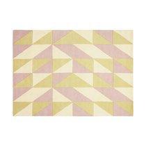 Tapis 160x230 cm de style scandinave en laine jaune et rose - NEDLE