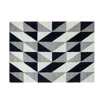 Tapis 120x170 cm de style scandinave en laine noire - NEDLE