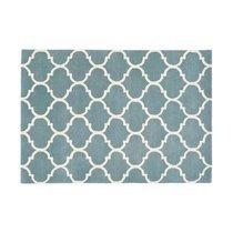 Tapis 120x170 cm en velours bleu clair - HAKIN