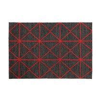 Tapis 120x170 cm style géométrique rouge - ZILFA