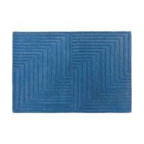 Tapis design 120x170 cm en laine bleue - PAMPA