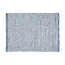 Tapis 160x230 cm en tissu bleu - OUZIA