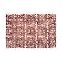 Tapis 120x170 cm en laine et coton rouge - ALGO