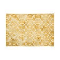 Tapis 120x170 cm en laine et coton jaune - ALGO