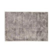 Tapis 120x170 cm en viscose argent - FLASH