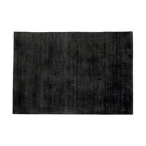 Tapis 120x170 cm en viscose anthracite - FLASH
