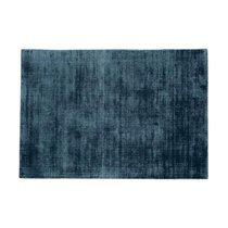 Tapis 120x170 cm en viscose bleu foncé - FLASH