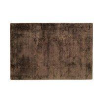 Tapis 120x170 cm en viscose chocolat - FLASH