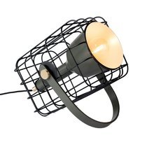 Lampe de table 29x21,5x28,5 cm en aluminium noir - SCAGE