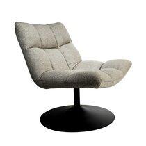 Fauteuil lounge 66x81x78 cm en tissu gris - CHAIRBAR
