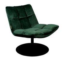Fauteuil lounge 66x81x78 cm en tissu velours vert- CHAIRBAR