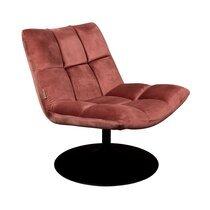 Fauteuil lounge 66x81x78 cm en tissu velours rose - CHAIRBAR