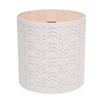 Bout de canapé coffre 38,5x38,5x40 cm blanc et naturel
