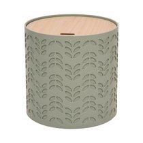 Bout de canapé coffre 38,5x38,5x40 cm vert et naturel