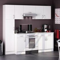 Ensemble cuisine avec meubles hauts et meubles bas blanc - JONAS