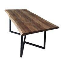 Table à manger 160x80x75 cm en bois et métal noir - OXYLA