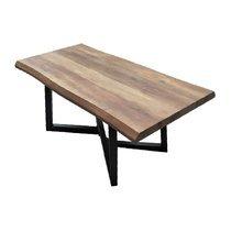 Table basse 120x60x44 cm en bois et métal noir - OXYLA