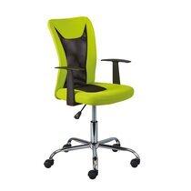 Chaise de bureau enfant avec accoudoirs vert et noir - CHILD
