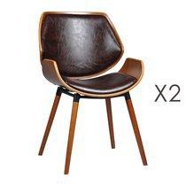Lot de 2 chaises 51,5x57,5x84 cm marron - NAVY