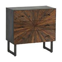 Commode 3 tiroirs 75x35x75 cm en bois recyclé - MORZINE