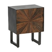 Chevet 1 porte 45x33x55 cm en bois recyclé - MORZINE