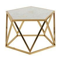 Table basse 59,5x59,5x41 cm en métal - NAPOLI