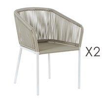 Lot de 2 fauteuils 73x63x78 cm gris