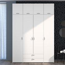 Armoire 4 + 4 portes et 2 tiroirs 2 blanc - KELSY