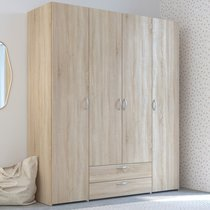 Armoire 4 portes 2 et tiroirs 2 chêne sonoma - KELSY