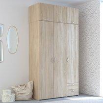 Armoire 3 + 3 portes et 2 tiroirs chêne sonoma - KELSY