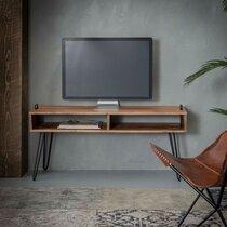 Meuble TV 110x35x45 cm en acacia massif - IOANIS