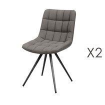 Lot de 2 chaises 46x61x82 cm en tissu jeans gris