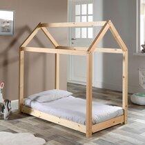 Lit cabane 70x140 cm en bois naturel - ADAHY