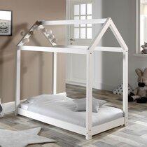 Lit cabane 70x140 cm en bois blanc - ADAHY