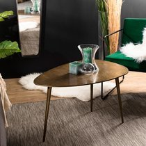 Table basse 85x56x48 cm en aluminium doré - JOSY
