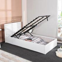 Lit coffre 90x190 cm blanc - MASHY