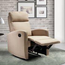 Fauteuil de relaxation électrique 67x80x105 cm en toile beige
