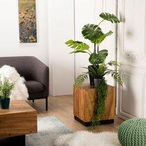 Table d'appoint carrée 42x42x48 cm en bois exotique