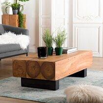 Table basse 122x61x37 cm en bois exotique