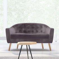 Canapé 130x77x78 cm en tissu velours taupe - NUNCA