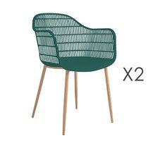 Lot de 2 fauteuils 61x53x81 cm vert - PESCA