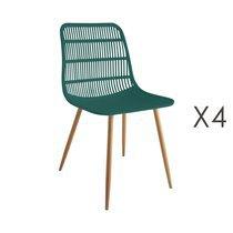 Lot de 4 chaises 46x50x85 cm vert - PESCA