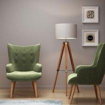 Fauteuil 69x76x98 cm en tissu velours vert clair - JOFFRY