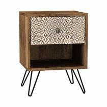 Chevet 1 tiroir 35x39x50 cm en bois et métal - TRIVIA