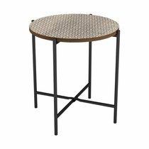 Table d'appoint ronde 40 cm en bois et métal - TRIVIA