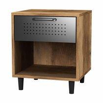 Chevet 1 tiroir 35x39x45 cm en bois et métal - BASIL